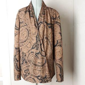 SALE Vintage Carlisle silk paisley top